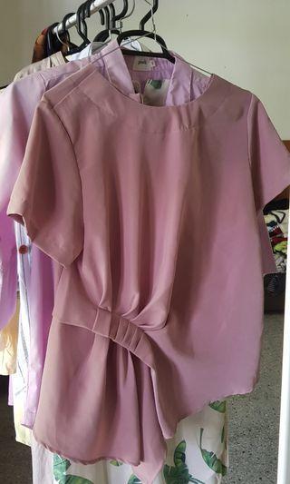 cammomile pink purple blouse