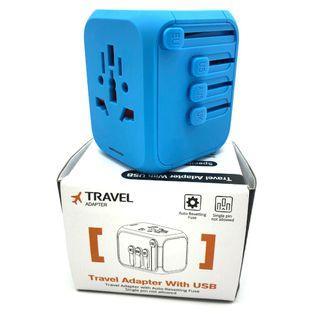🚚 International Universal Travel Adapter with 4 USB Ports