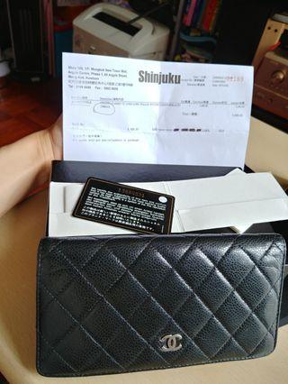 Chanel Long Wallet 長銀包 黑皮