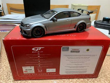 1/18 GT Spirit Mercedes-Benz C-Class W204 C63 AMG Black Series Silver NR 731 Limited Edition