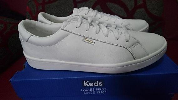 Keds Ace Leather White Putih 39 BARU ORIGINAL