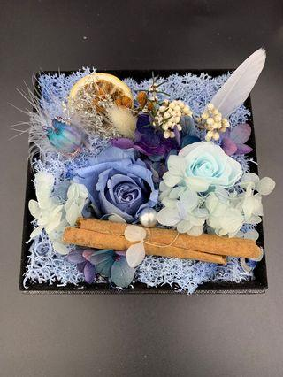 Mother's Day Preserved Flower Box (Blue)