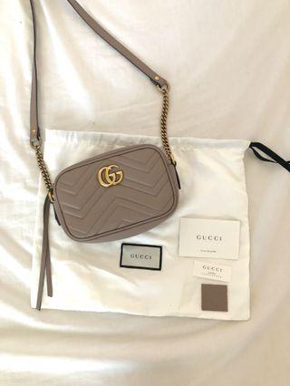 Gucci GG Marmont Matelasse Mini Camera Bag Dusty Pink