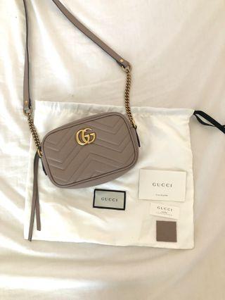 ad678d08f0c Gucci GG Marmont Matelasse Mini Camera Bag Dusty Pink