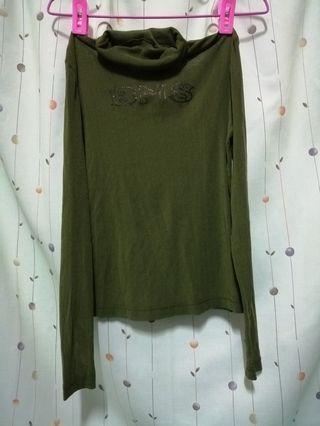 綠色透明上衣