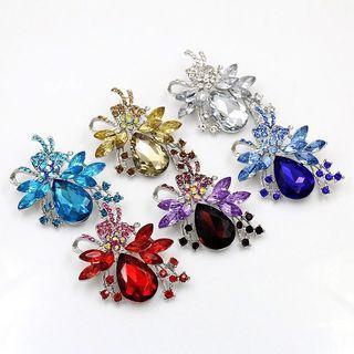 Crystal Diamante Brooch