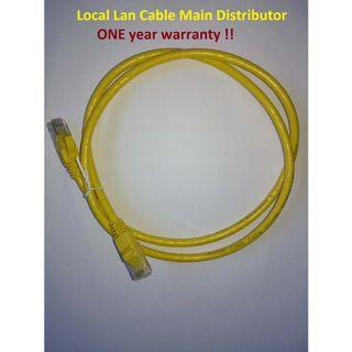 🚚 Cat 6 Lan Cable for 1m, 2m, 3m, 5m, 10m, 15m, 20m, 30m (Black, Blue, White, Gray, Yellow, Green, Purple, Red, Orange 9 Colors)
