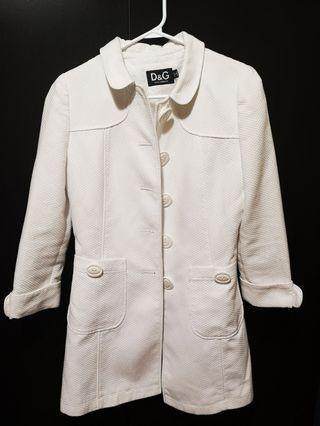 Dolce and Gabbana white jacket