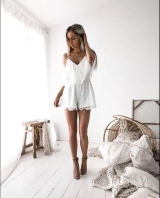 White Lace Playsuit (Two Sisters)