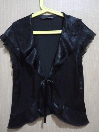 Black Cardigan /outware  hitam import