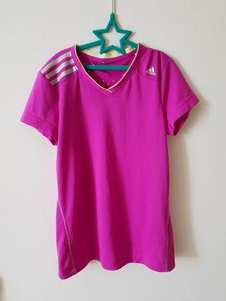 Adidas Girl Climachill Pink Top
