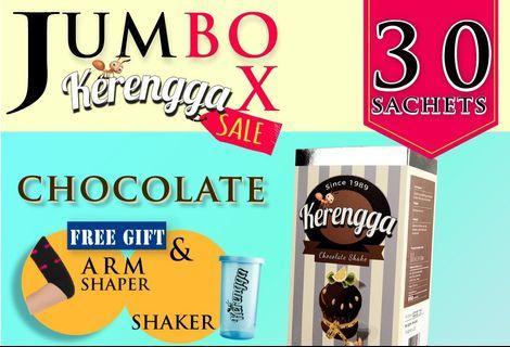 Kerengga Lentik Chocolate Shake Promosi Jumbo Pack