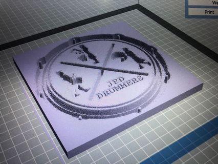 Photo to 3D Print frame/keychain
