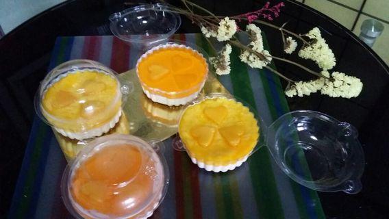Mango pudding/jelly cheesecake
