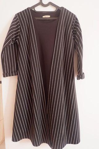 Dress hitam garis stripe