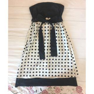 Black & White Polka Dots Tube Dress