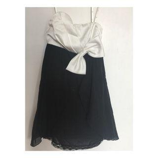 Black & White Mini Tube Dress