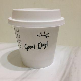 星巴克經典白色布丁杯子 starbucks pudding cup good day 小盆栽