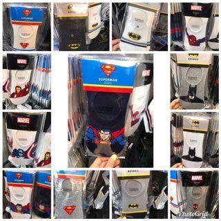 🚚 韓國代購週🇰🇷韓國正版Marvel 男款襪子 超人 蝙蝠俠 鋼鐵人 美國隊長 蜘蛛人