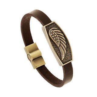 Feathercast leather bracelet men