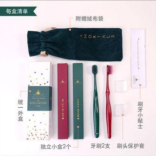 Genuine amortals south korea er muyan super soft toothbrush couple set
