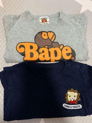 Bape Kids 80 & Comme Ca Fossette 80