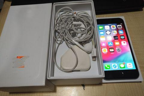 Iphone 6 64gb LL set fullset box grey color