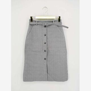 灰色中長裙 斯文OL 減價 清貨 連腰帶 midi pencil skirt