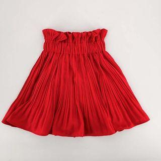 Red Skort 韓國壓褶裙 橡根腰 超靚 KOREA fashion skirt