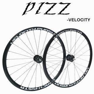 PIZZ VELOCITY FIXED GEAR/SINGLE SPEED WHEELSET - light weight ,impressive logo design, durable and smooth.