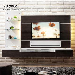 VD7080 8ft Feature Wall TV Cabinet Warehouse56
