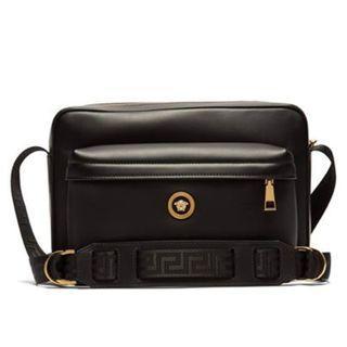 VERSACE Medusa leather messenger bag