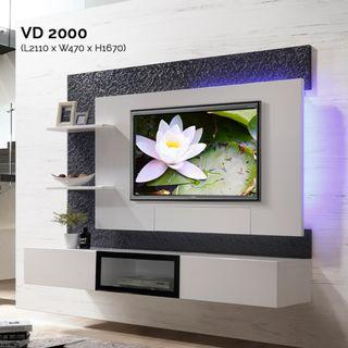 VD2000 7ft Feature Wall TV Cabinet Warehouse56