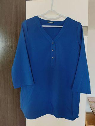藍色長款上衣
