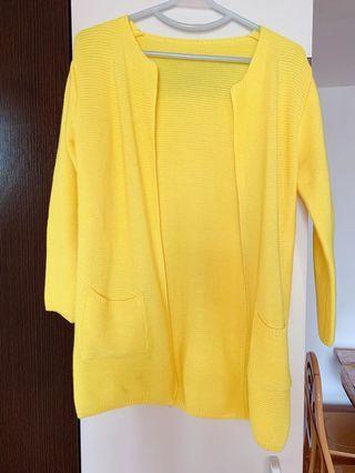 Yellow Cardigan 黃色針織外套