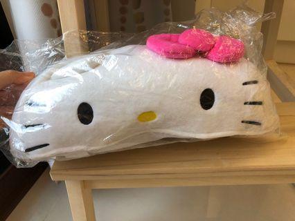 全新 三麗鷗正版KT Hello kitty 凱蒂貓 絨毛面紙套 衛生紙套