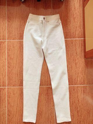 H&M白色長褲