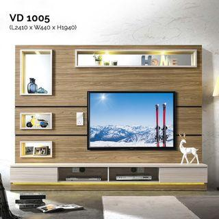 VD1005 8ft Feature Wall TV Cabinet Warehouse56