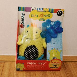 Sassy Non-sters Buppy Uppy Plush with Bee Teether - Brand New in Box