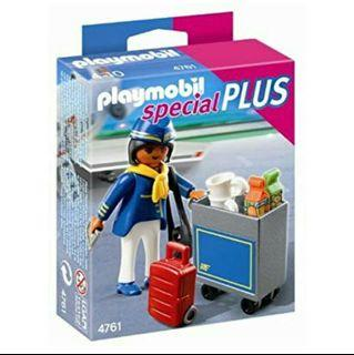 Playmobil 4761 Flight Attendant with Service Cart