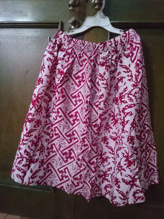 Rok pendek batik