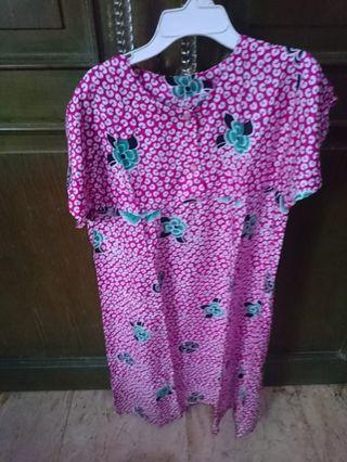 Daster Batik solo pink