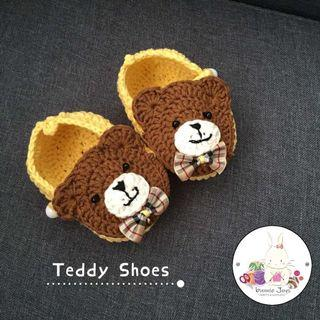 Handmade crochet baby prewalker shoes