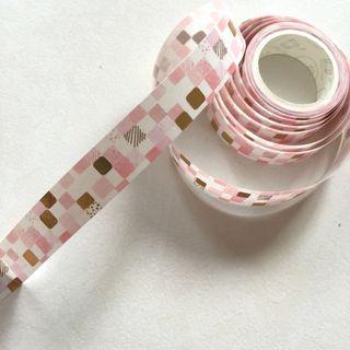 Pink gold tiled mosaic washi tape