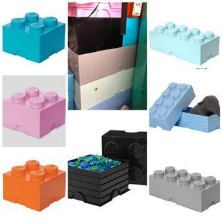 Lego storage brick 4 / 8 儲物箱