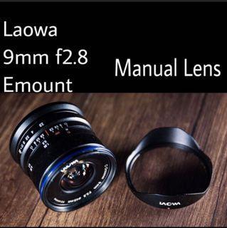 Brand new Venus Optics Laowa 9mm f/2.8 Zero-D Lens for Sony E