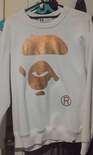 AAPE By A Bathing Ape White Sweater