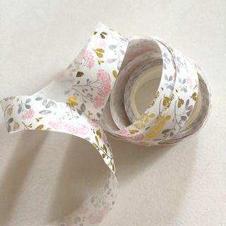 Floral with Gold foil washi tape