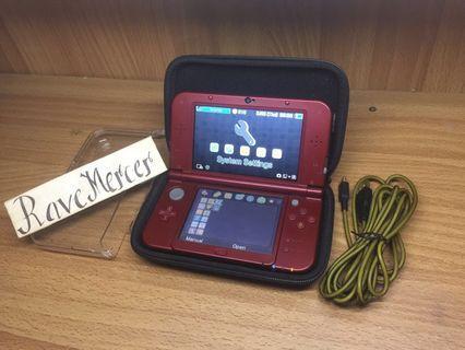 New Nintendo 3DS XL US CFW Metallica Red IPS top