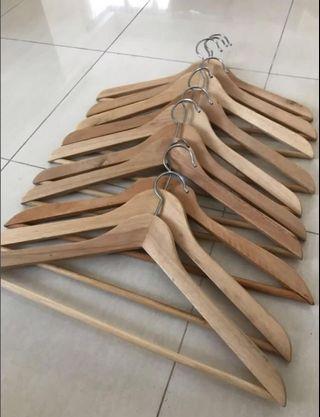 2 x 10 Wooden Hangers